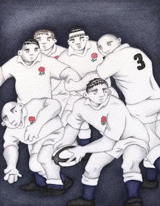 England Scrum by Paul Hainsworth