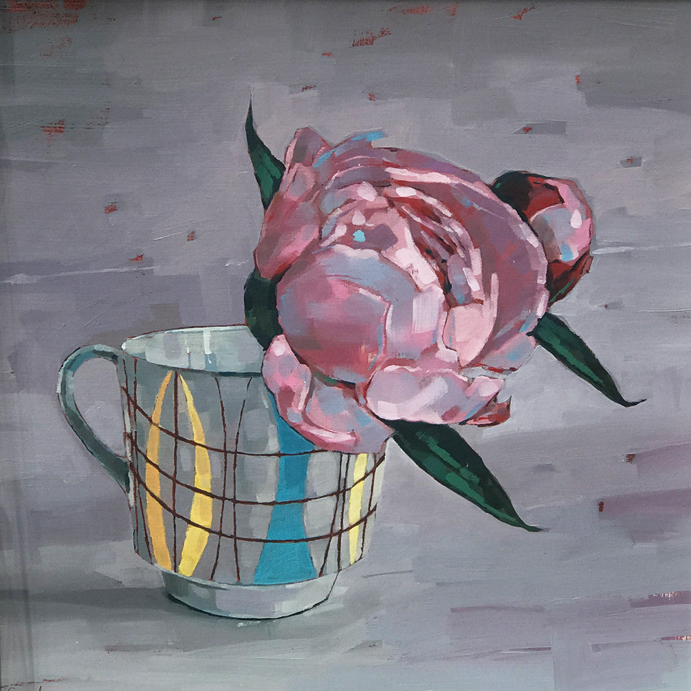 Pink Peony in Cup by Jane French