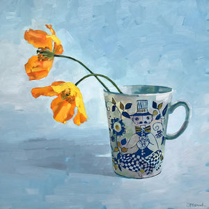 Yellow Poppies in a Cup by Jane French