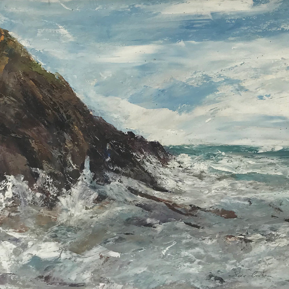 October - Edge of the Strom (Sugary Cove, Dartmouth) by Sue Graham