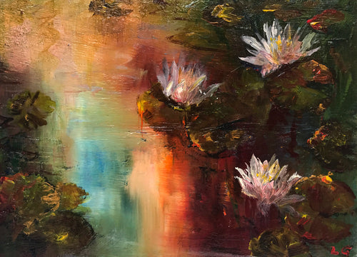 Water Lilies by Lesley Griggs