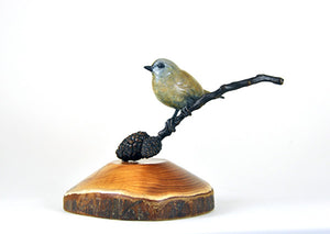 Goldcrest on Twig by David Meredith