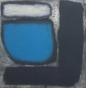 Granite and Blue (Collagraph) by Catherine Headley
