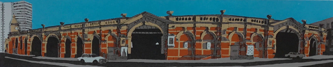 Railway Station (Screenprint) by Kevin Holdaway