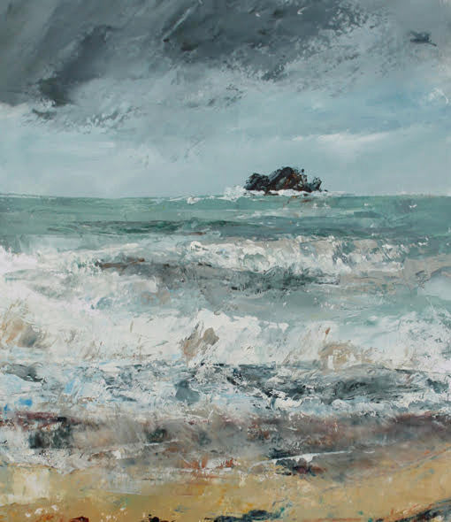 Rough Sea (Trebetherick) by Sue Graham
