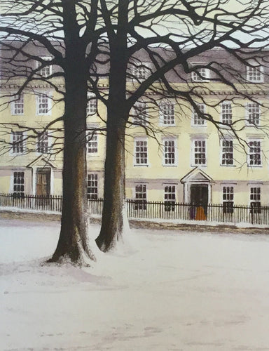 Snow in the Square by Kathleen Caddick