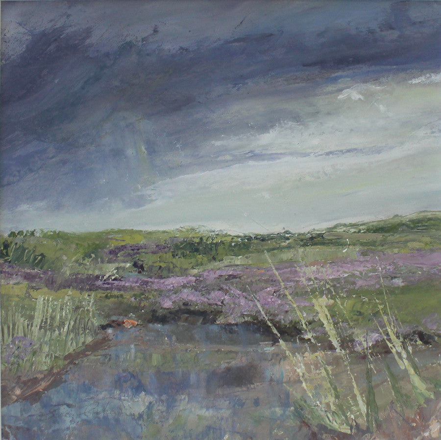 Incoming Storm Over the Sea Lavender by Sue Graham