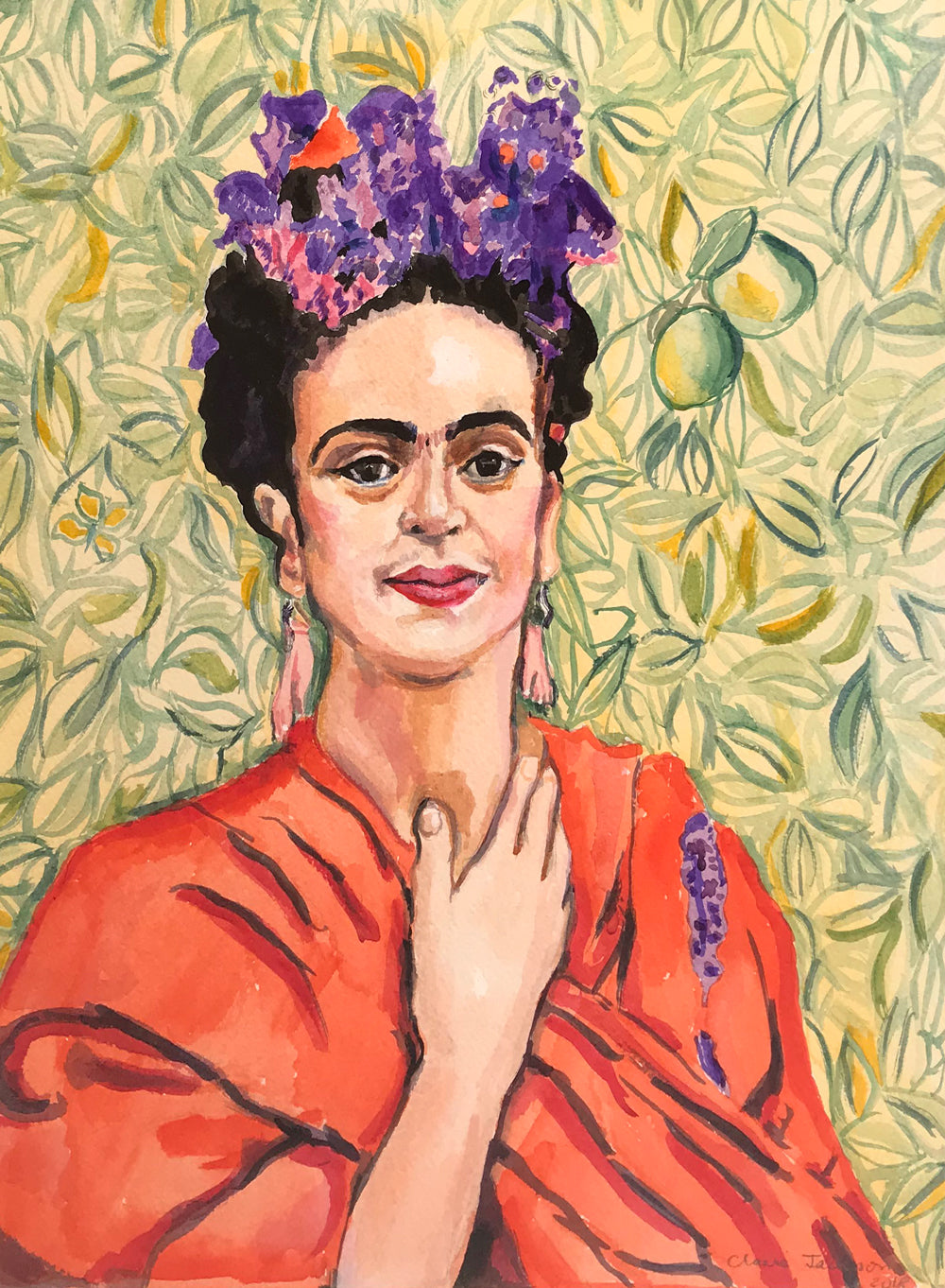 Portrait of Frida Kahlo by Claire Jackson