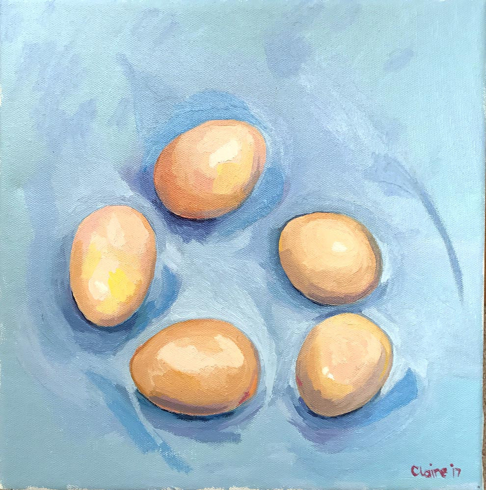 Eggs - Blue by Claire Jackson