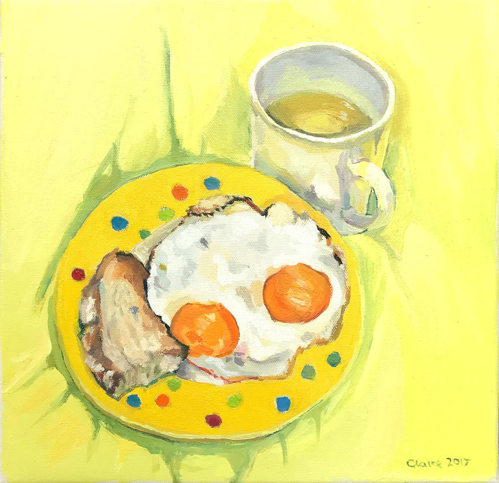 Eggs - Yellow by Claire Jackson