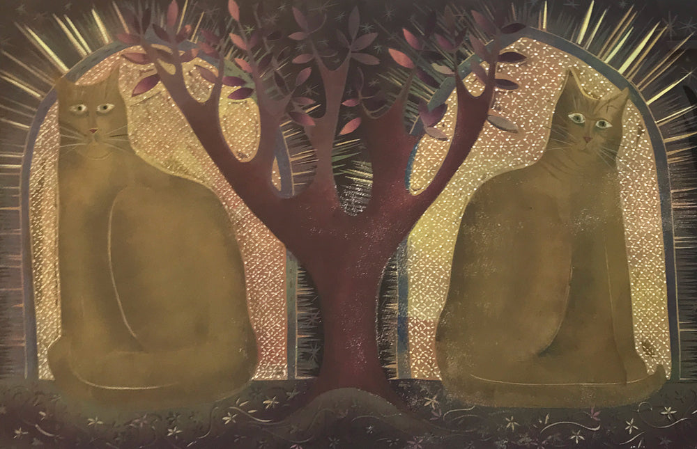 Two Cats and a Tree by Sarah Kirby