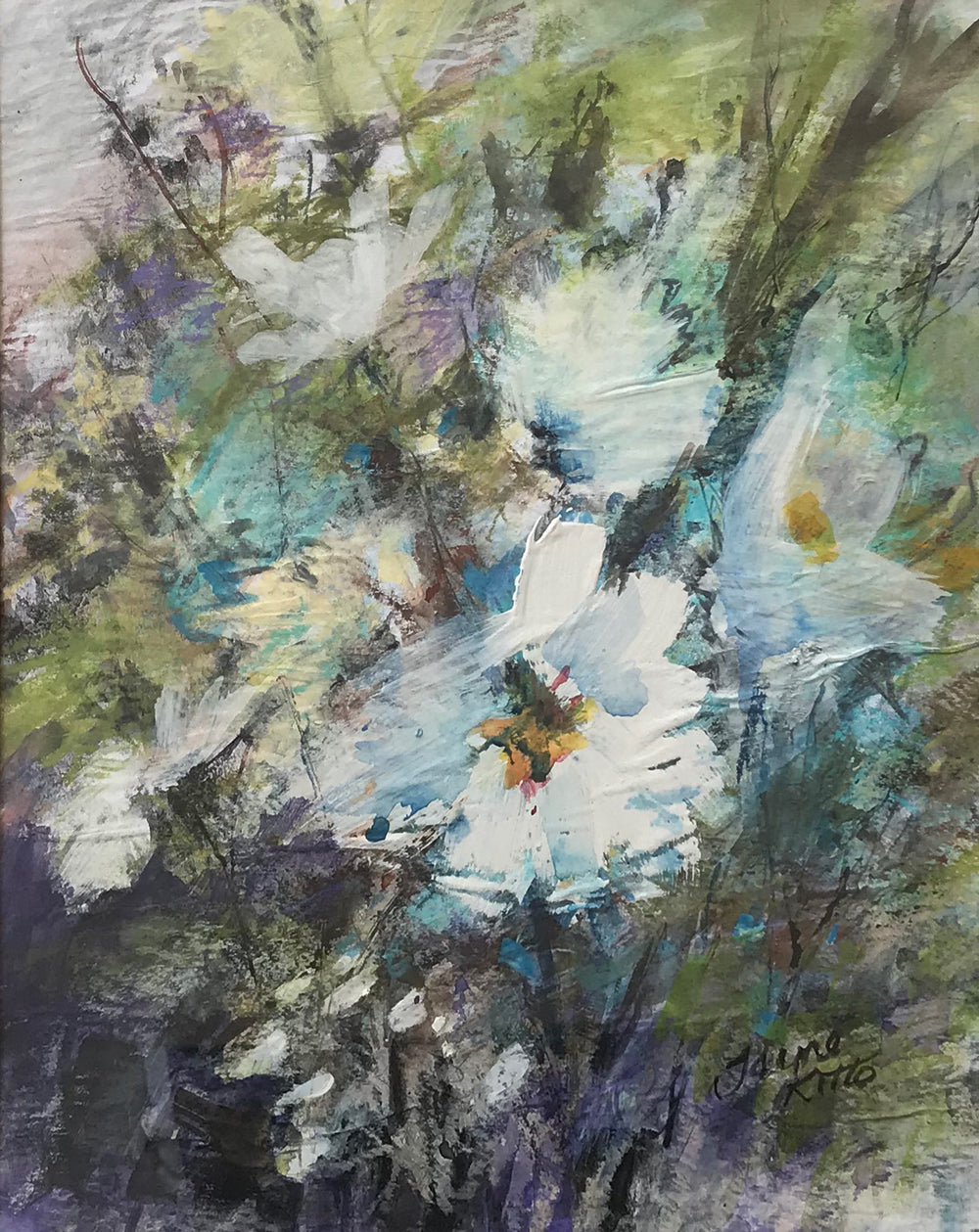 White Floral by Jayne Kitto