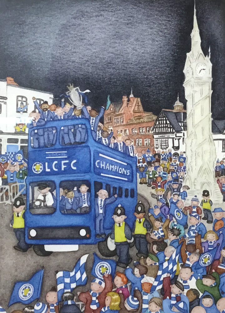 LCFC Champions 2016 Bus Tour by Paul Hainsworth