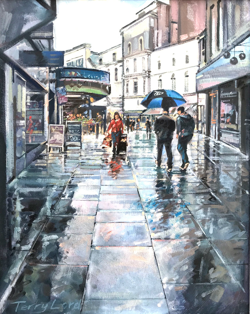 Rainy Day, Victoria Parade by Terry Lord