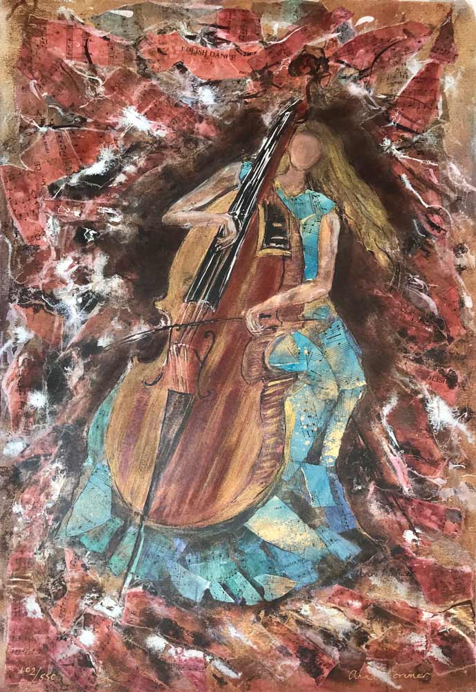 Lady Cellist by Anna Lorimer