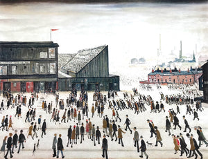 Going to the Match by LS Lowry
