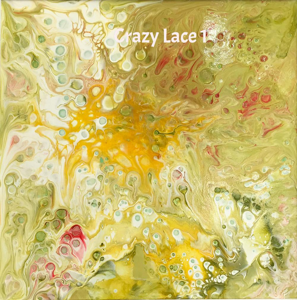Crazy Lace (Dyptych)  by Christine Mannion