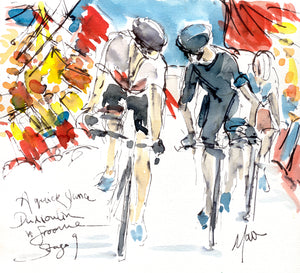 A Quick Glance - Dumoulin vs Froome by Maxine Dodd