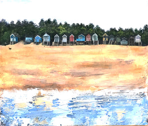 Beach Huts, Wells-next-the-Sea by Sophie Oakley
