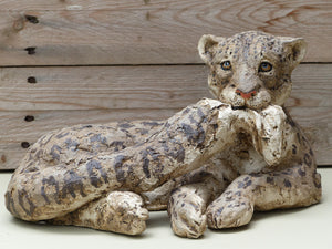 Snow Leopard (Lying) by Julie Wilson