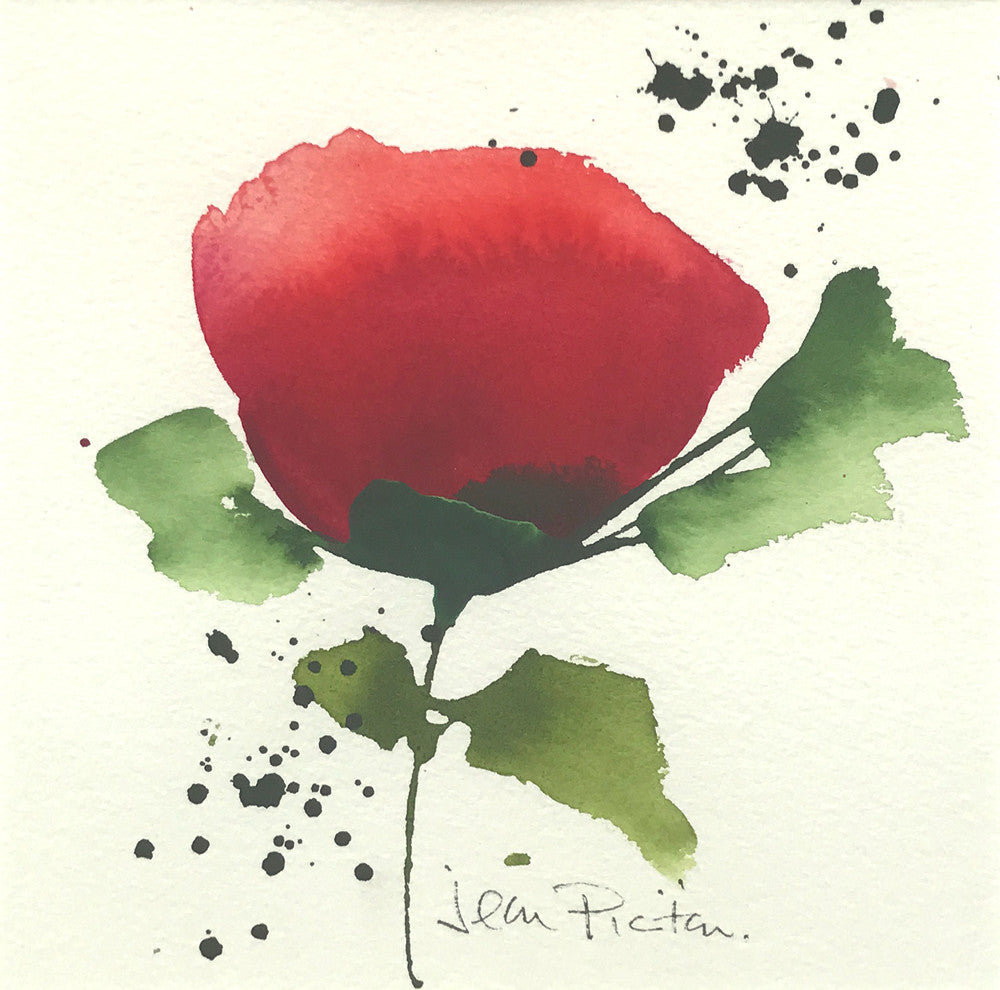 Red Flower II by Jean Picton