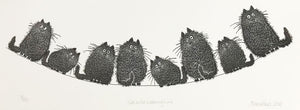 Cats On a Washing Line by Alison Read