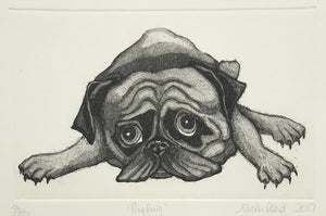 Pug Rug by Alison Read