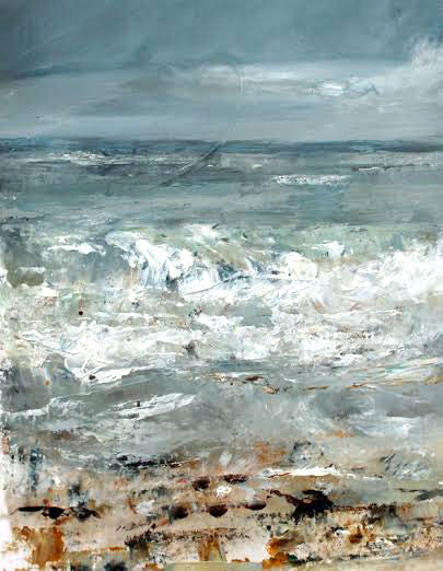 Racing Tide (North Cornwall) by Sue Graham