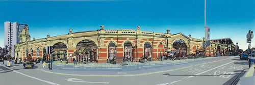 Railway Station (Linocut) by Kevin Holdaway