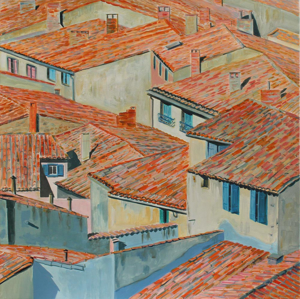 Terracotta Roofs by Carolyn Kay