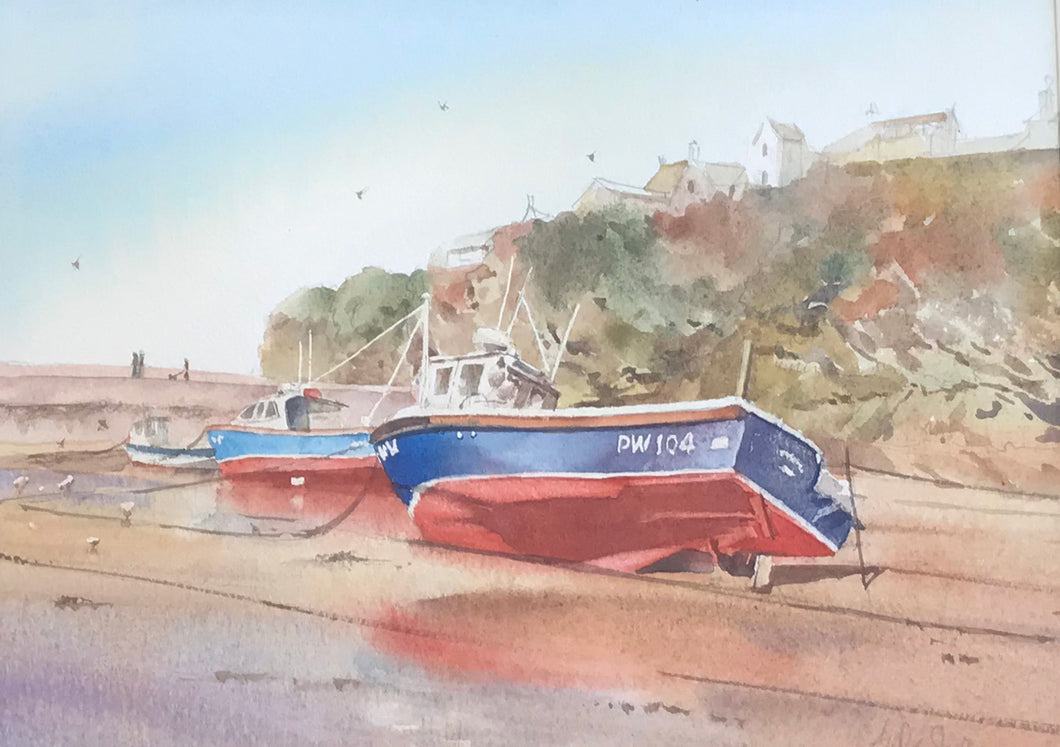 Fishing Trawlers, Port Isaac by Andy Shore
