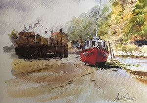 Red Boats, Staithes by Andy Shore