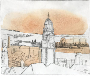 Three of the Towers of the Skyline of Leicester by Douglas Smith