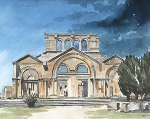 Basilica of Saint Simeon, Syria by Douglas Smith