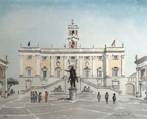 Michelangelo's Campidoglio with Marcus Aurelius by Douglas Smith