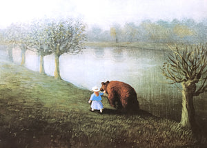 Girl with Bear by Michael Sowa