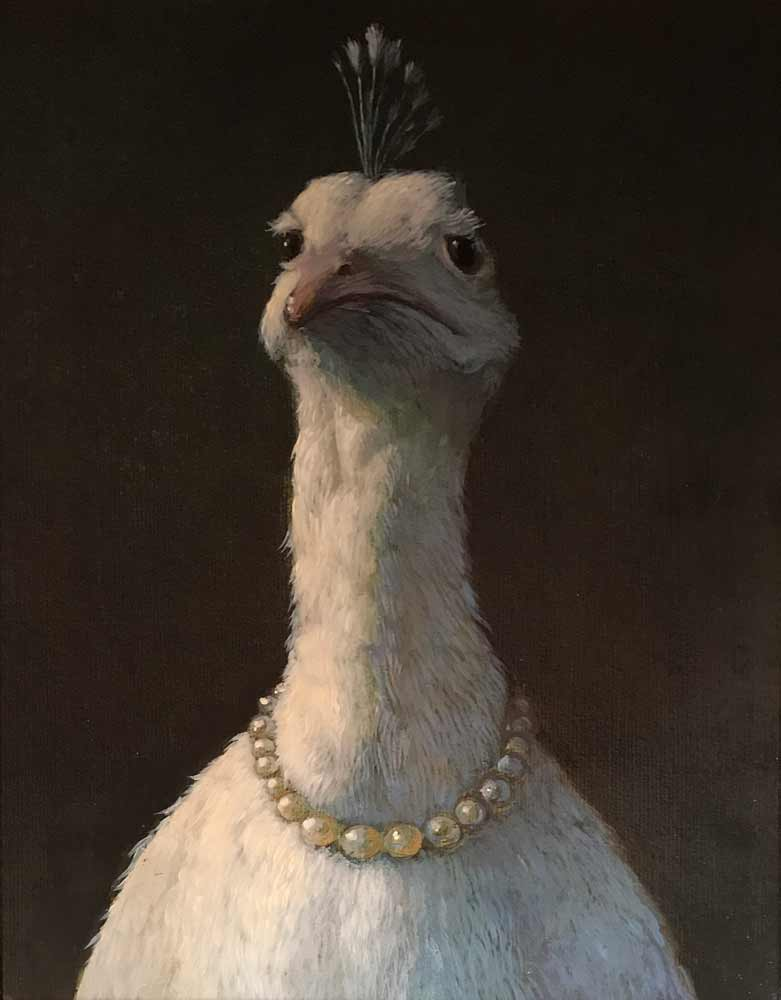 Pea Hen by Michael Sowa (Unframed)