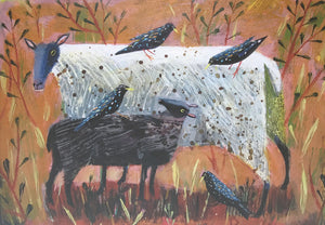 Black Lamb and Starlings by Mary Sumner