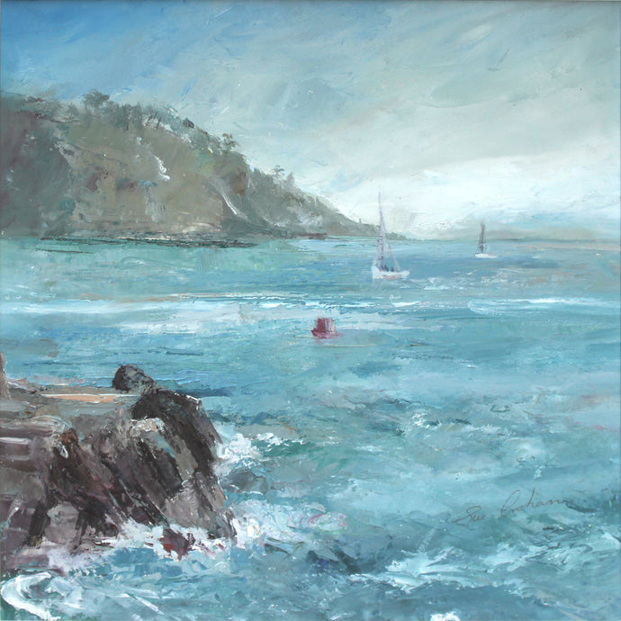 Seeking Solitude (Castle Cove, Dartmouth) by Sue Graham