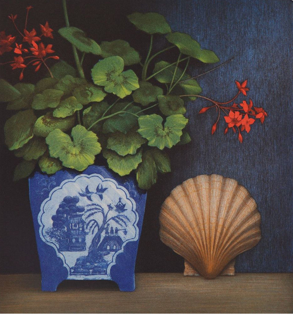 Shell & Geranium by Terence Millington