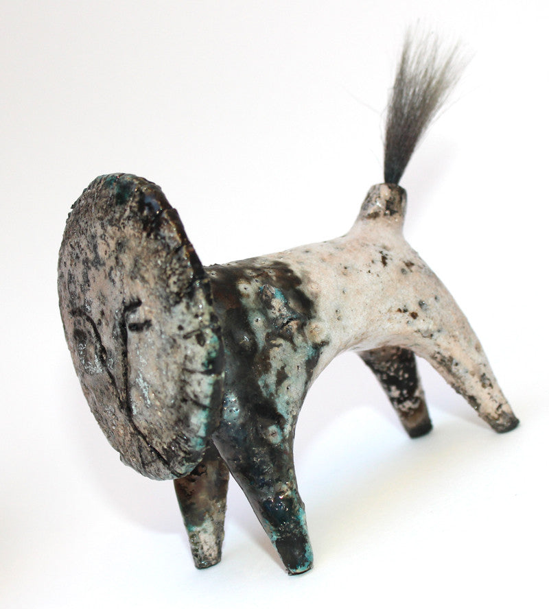 Raku Lion (Small) by Henrietta Corbett