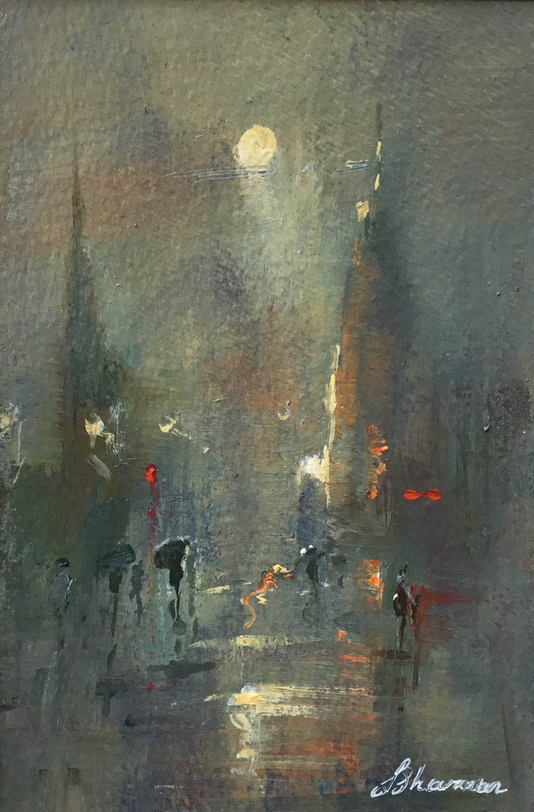 Sultry Evening Paris by Linda Sharman