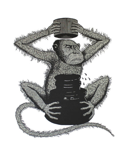 The Monkey of the Inkpot by Peter Rapp (unframed)