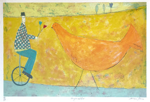Unicycle and Bird by Annora Spence