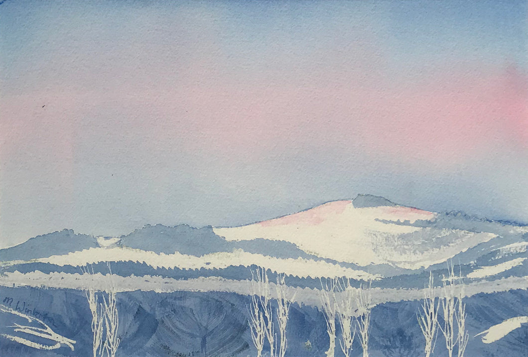 Snow Over Charnwood Forest by Margaret Winterton