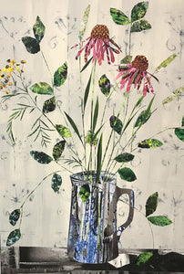 Flowers in a Glass Jug by Louise Wood