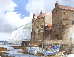 Staithes Harbour by George Watson