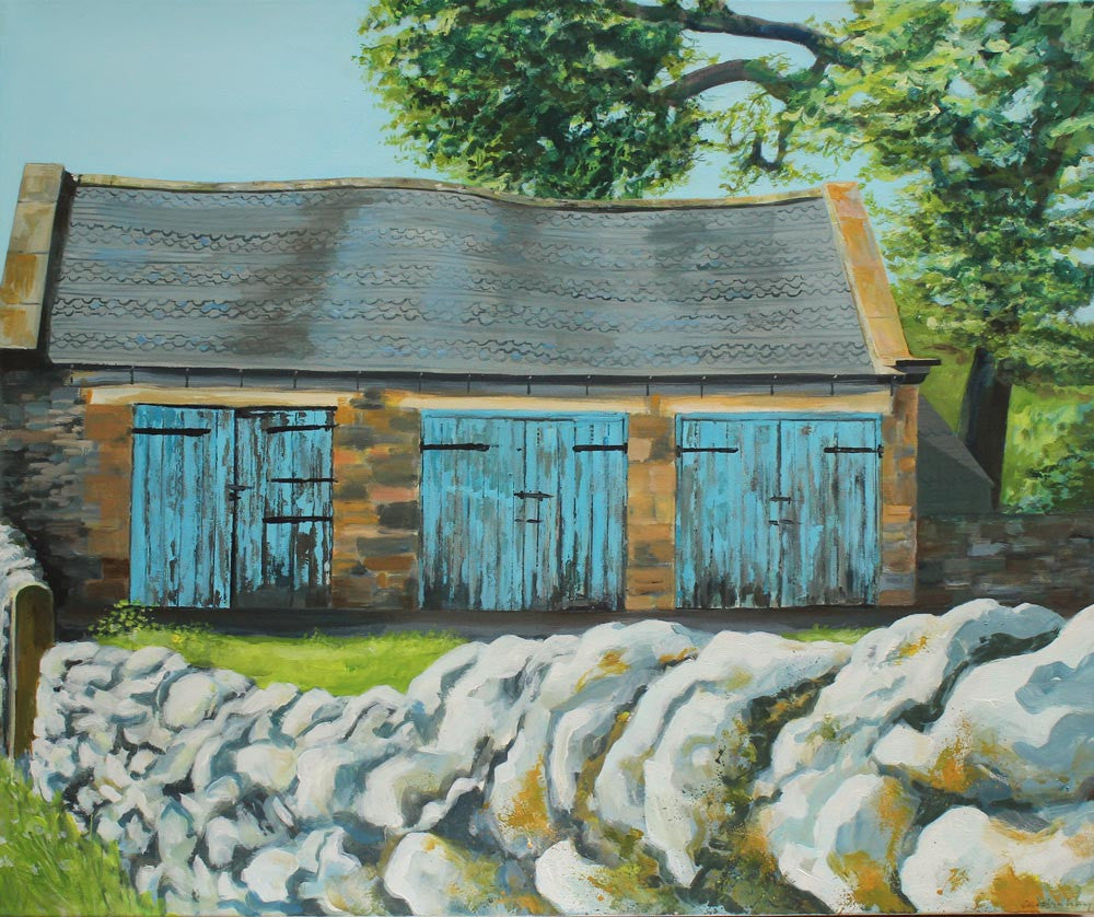 Blue Barn, Hartington by Carolyn Kay