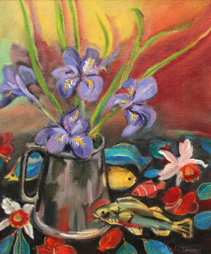 Winter Irises by Nanette Whiteway