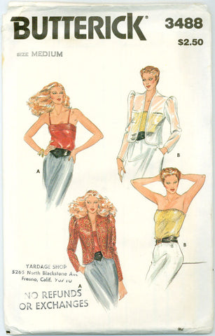 Butterick 3488 - Camisole and Jacket - Serendipity Vintage
